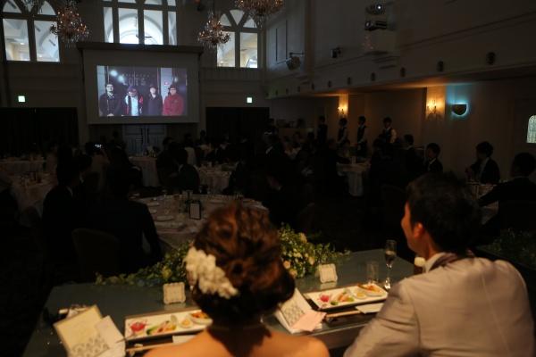 新潟県燕三条市結婚式場 スクリーン 映像