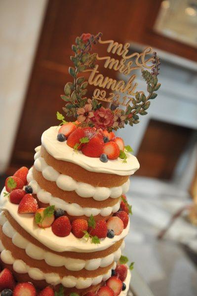 新潟県燕三条市 結婚式場 手紙 ウェディングパーティ- 感謝 ウェディングケーキ