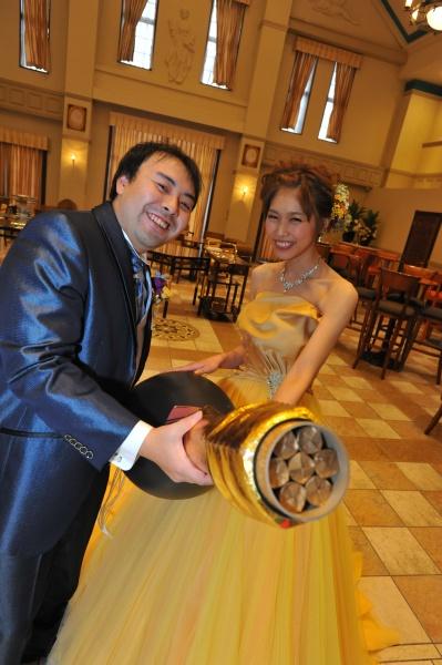 新潟県燕三条市結婚式場 入場 カラードレス