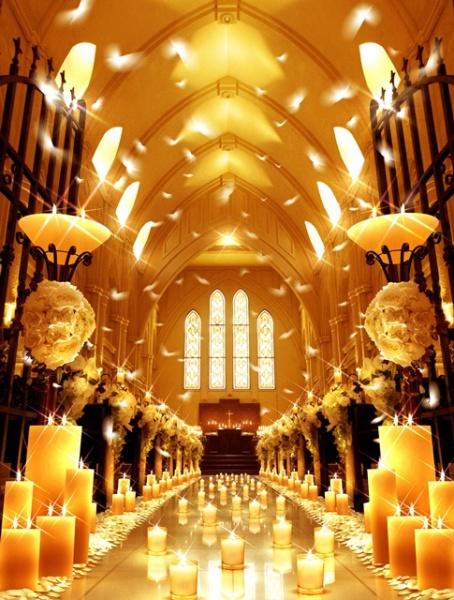 新潟市燕三条市 結婚式場 チャペル キャンドルチャペル フェザーシャワー クリスマス 誓い