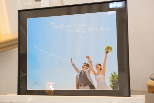 新潟県燕・三条市の結婚式場 ボード ウェルカムボード