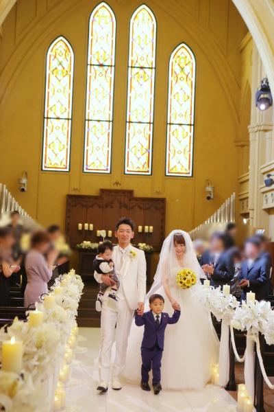 新潟市 三条市 燕市 長岡市 結婚式場 チャペル退場 家族退場