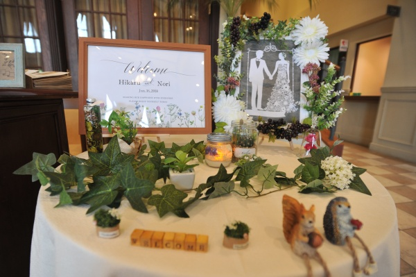 新潟県 三条市 結婚式場 ピアザデッレグラツィエ ウェルカムグッズ