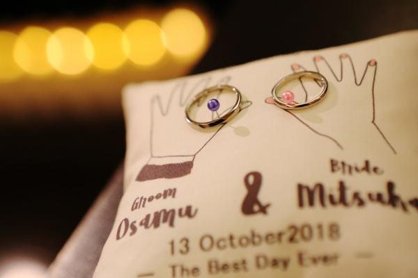 新潟県三条市 燕市 長岡市 結婚式場 結婚指輪 リングピロー オリジナル