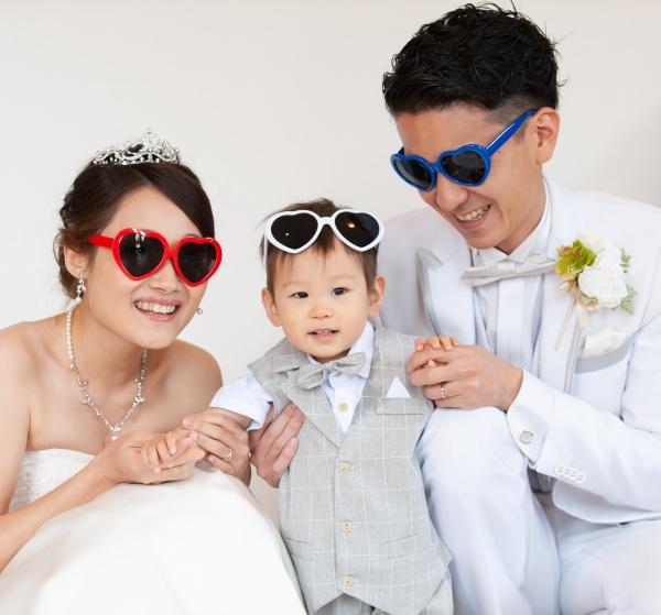 新潟県三条市 燕市 長岡市 結婚式場 前撮り こども サングラス