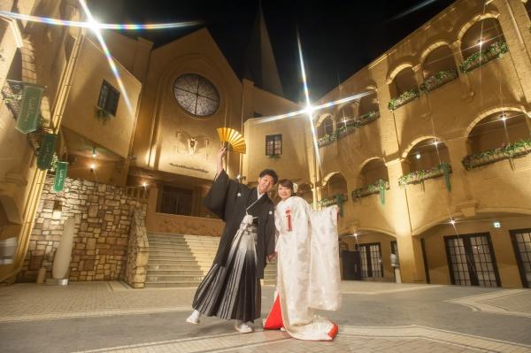 新潟県三条市 燕市 長岡市 結婚式場 新潟市 前撮り 和装 白無垢 打掛 イルミネーション 夜景