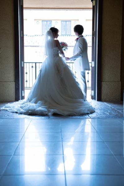 新潟県三条市 新潟市 長岡市 燕市 結婚式場 前撮り フォト シルエット 新郎新婦