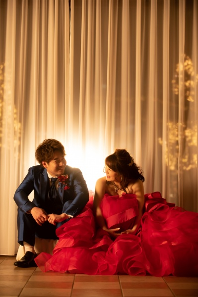 新潟県三条市 結婚式場 見附市 長岡市 新潟市 結婚式 ドレス 前撮り 写真 ウェディングフォト ナイト撮影 イルミネーション