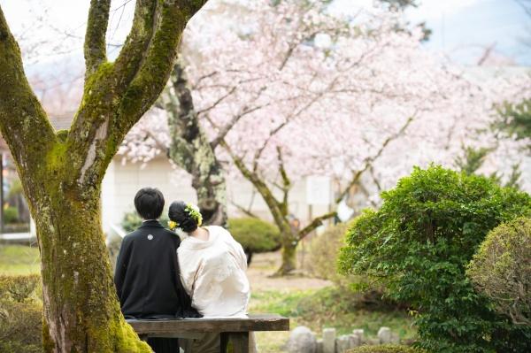 【出張前撮り❤桜季節のウェディング】満開の桜と一緒に和の心フォト撮ってきました!