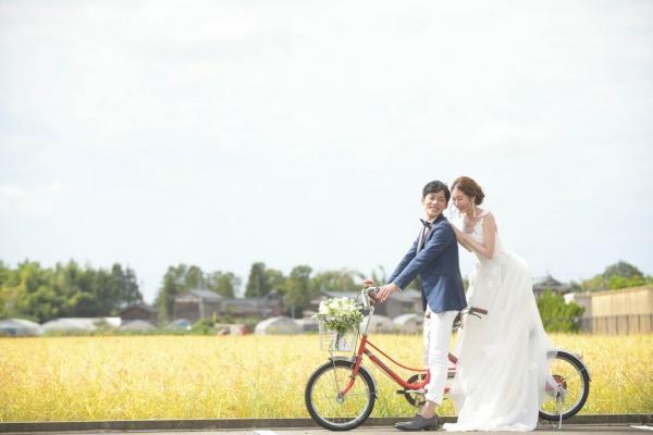新潟県三条市 新潟市 長岡市 結婚式場 花嫁 前撮り 披露宴会場 新郎新婦 自転車 New