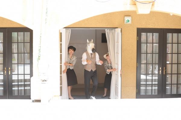 新潟県三条市 結婚式 新潟市 長岡市 三条市 フォト チャペル式 アフターセレモニー 広場演出 馬
