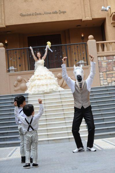新潟県三条市 結婚式 新潟市 長岡市 三条市 フォト チャペル式 アフターセレモニー 広場演出 馬 ダンス