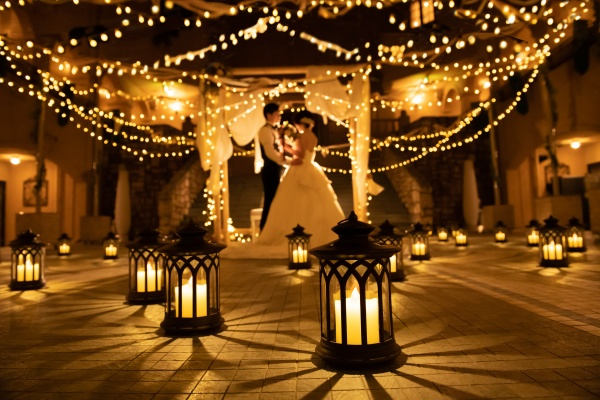 新潟県三条市 長岡市 新潟市 結婚式場 楽しい 笑顔 ウェディングレポート 結婚レポート ロケフォト ウェディングケーキ リボンアーチ(イルミネーションアーチ)
