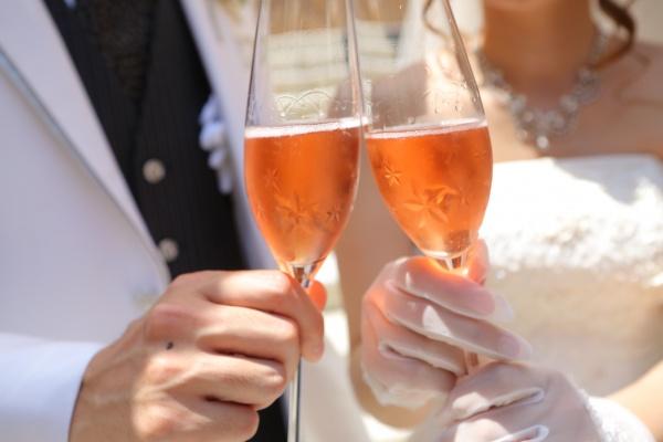 新潟県三条市 長岡市 見附市 新潟市 結婚式場 乾杯酒 お洒落 乾杯グラス