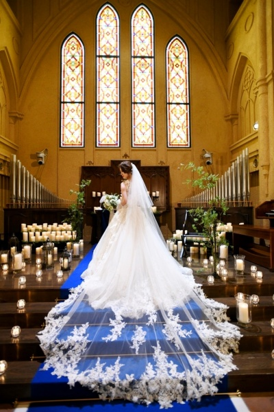 新潟県三条市 新潟市 長岡市 結婚式場 美花嫁 ウエディングドレス バックスタイル