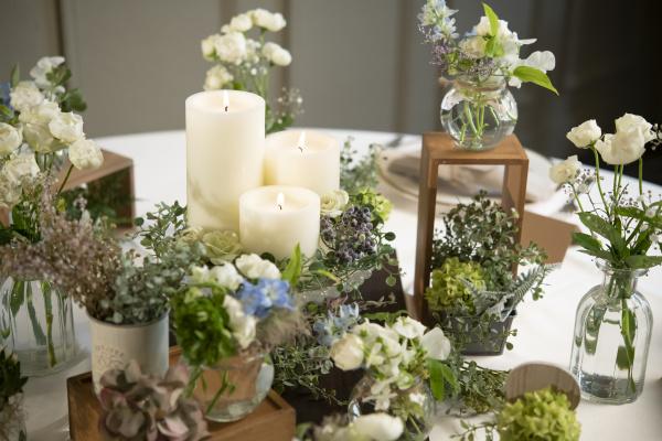 新潟県三条市 新潟市 長岡市 結婚式場 花嫁さま  結婚式 テーブル装花 フラワーコーディネート