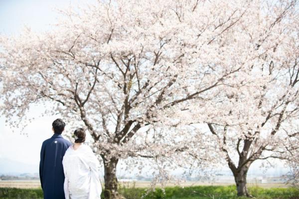 新潟県三条市 長岡市 新潟市 結婚式場 ウェディングフォト 前撮り 出張 紅葉 打掛 和装  縁起もの