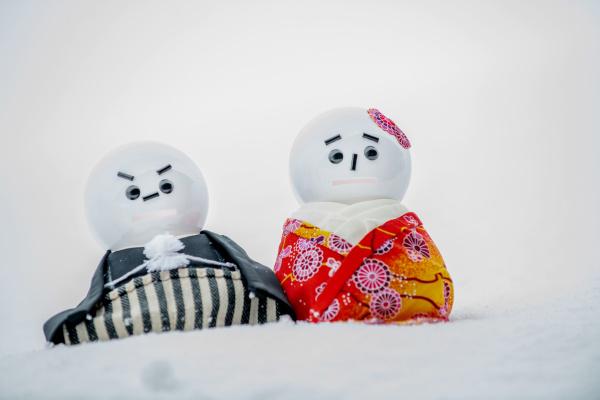 【白銀の世界◆幻想的なフォトスポット】雪で透明感アップ!のウェディングフォト♥