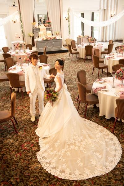 新潟県三条市 長岡市 新潟市 結婚式場 披露宴 レポート パーティレポート ウェディングドレス カラードレス フォト バックショット