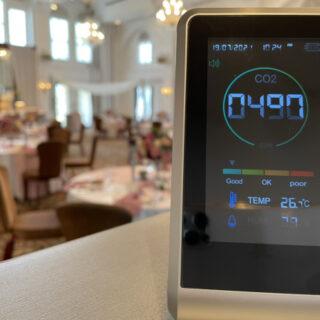 \感染症対策◆最新情報/【安心安全な結婚式のために!】二酸化炭素濃度測定器を設置しました!