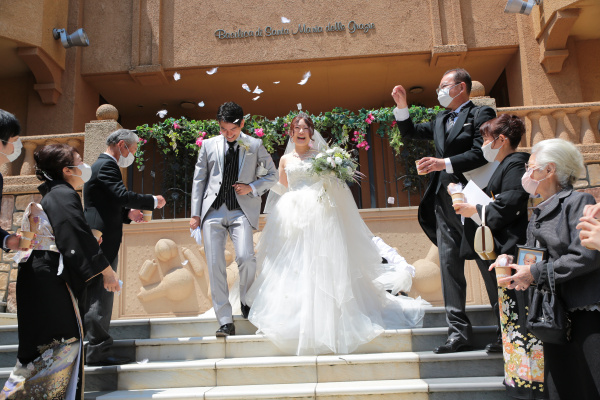 新潟県三条市 長岡市 新潟市 結婚式場 ピアザデッレグラツィエ 感謝 DIY お花いっぱい